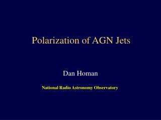 Polarization of AGN Jets