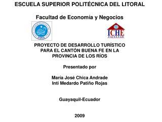 ESCUELA SUPERIOR POLITÉCNICA DEL LITORAL Facultad de Economía y Negocios