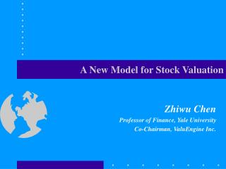 A New Model for Stock Valuation