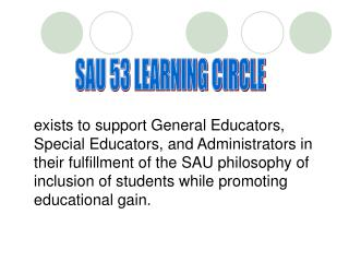 SAU 53 LEARNING CIRCLE