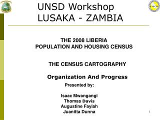 THE CENSUS CARTOGRAPHY Organization And Progress