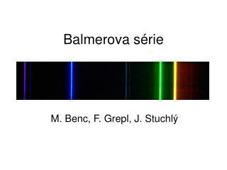 Balmerova série