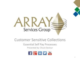 Customer Sensitive Collections Essential Self Pay Processes Presented by: Chuck Seviour