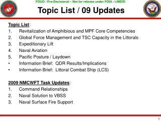 Topic List / 09 Updates