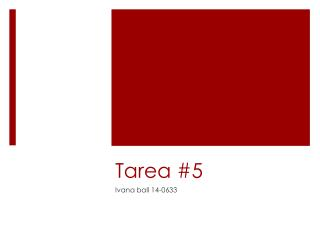 Tarea  #5