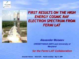 FIRST RESULTS ON THE HIGH ENERGY COSMIC RAY ELECTRON SPECTRUM FROM FERMI LAT