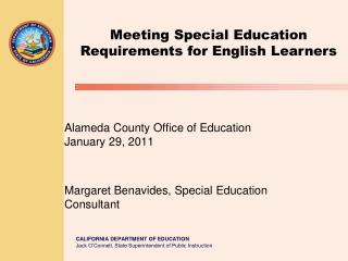 Meeting Special Education Requirements for English Learners