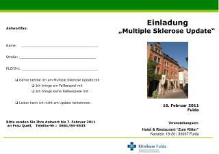 16. Februar 2011 Fulda Veranstaltungsort: