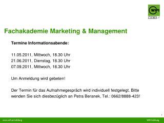 Fachakademie Marketing & Management