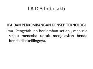 I A D 3  Indocakti