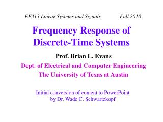 Frequency Response of Discrete-Time Systems