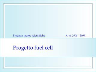 Progetto fuel cell