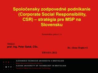Spoločensky zodpovedné podnikanie