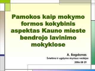 Pamokos kaip mokymo formos kokybinis aspektas Kauno mieste bendrojo lavinimo mokyklose
