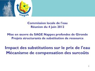 Commission locale de l'eau Réunion du 4 juin 2012