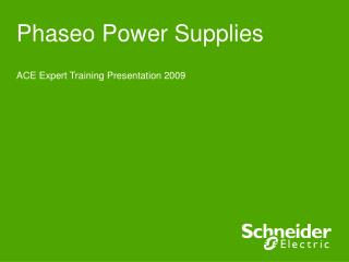 Phaseo Power Supplies