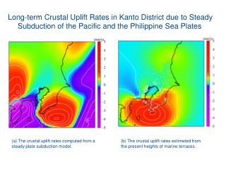 Long-term Crustal Uplift Rates in Kanto District due to Steady