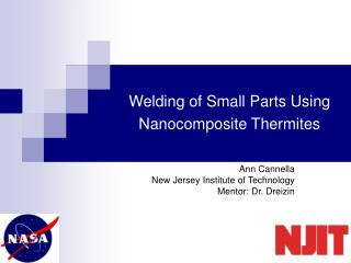 Welding of Small Parts Using Nanocomposite Thermites