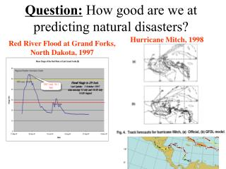 Question:  How good are we at predicting natural disasters?