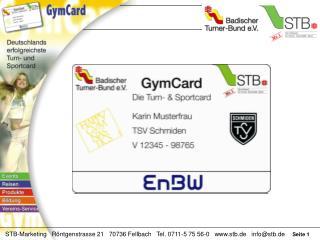 Offizieller Hauptf�rderer der GymCard