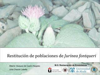 M.O. Restauración de Ecosistemas