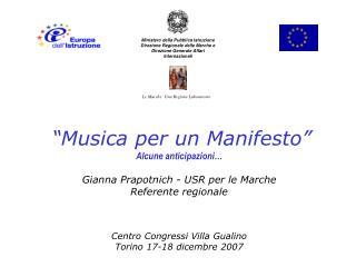 """""""Musica per un Manifesto"""""""