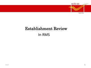 Establishment Review