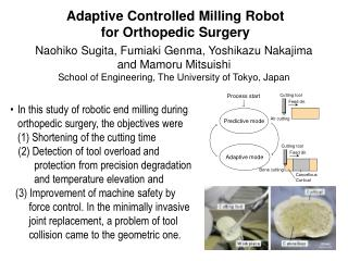 Adaptive Controlled Milling Robot  for Orthopedic Surgery