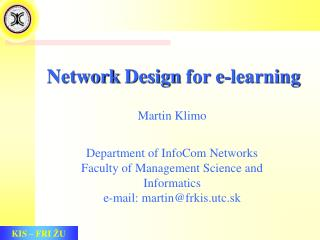 Network  Design  for e-learning