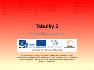 Tabulky 2