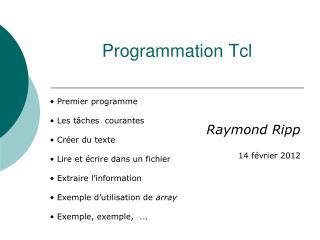 Programmation Tcl