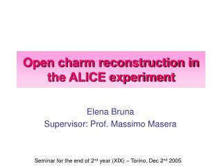Open charm reconstruction in the ALICE experiment