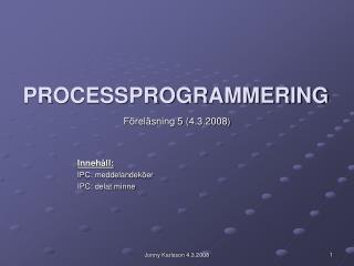 PROCESSPROGRAMMERING
