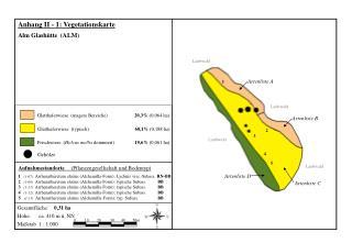 Anhang II - 1: Vegetationskarte