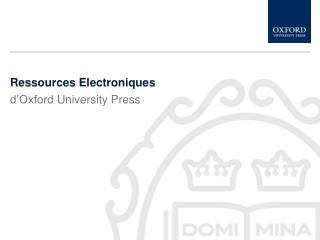 Ressources Electroniques
