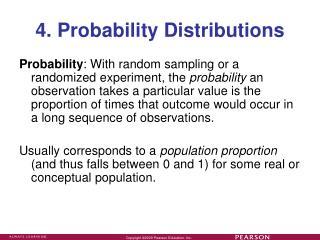 4. Probability Distributions