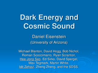 Dark Energy and Cosmic Sound