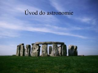 �vod do astronomie