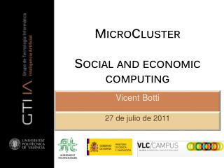 MicroCluster Social and  economic computing