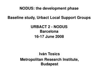 Iván Tosics Metropolitan Research Institute, Budapest
