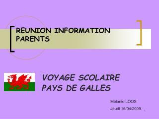 REUNION INFORMATION PARENTS