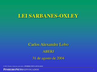 LEI SARBANES-OXLEY