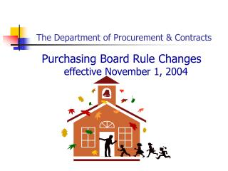 The Department of Procurement  Contracts