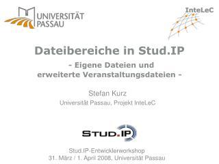 Dateibereiche in Stud.IP - Eigene Dateien und erweiterte Veranstaltungsdateien -