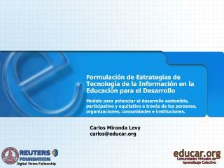 Formulaci n de Estrategias de Tecnolog a de la Informaci n en la Educaci n para el Desarrollo