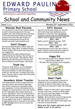 School and Community News