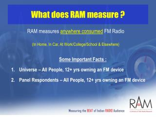 What does RAM measure ?