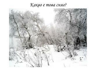 Какво е това сняг ?
