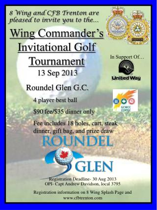 Wing Commander's Invitational Golf Tournament