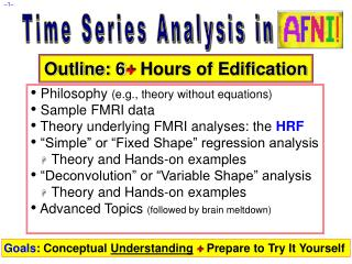 Time Series Analysis in AFNI